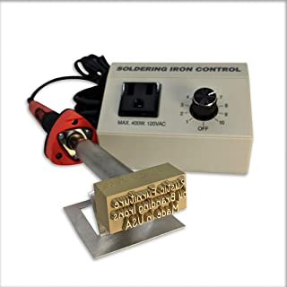 Custom Electric Branding Iron with No Border Includes Heating Tool and Temp Control Unit - Standard Size