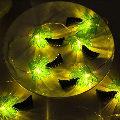 LANGPIAOEZU Warm 3M 20 LED-Fee-Schnur-Licht-Kokosnuss-Baum-Batteriebetriebene Lichterketten for Weihnachten Hochzeit Schlafzimmer-Dekoration delikat