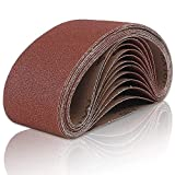 Coceca Sanding Belts 3x21 Inches (75x533mm) Aluminum Oxide Sanding Belt, 80...