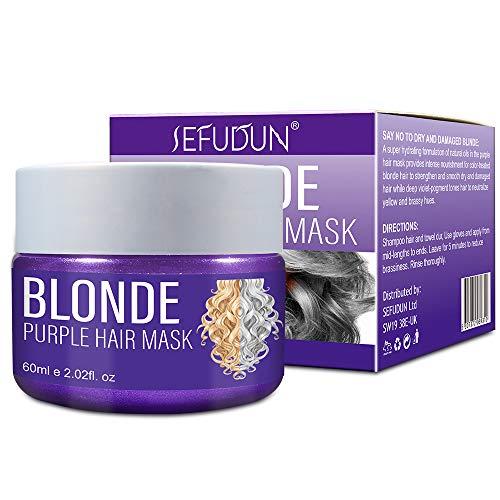 La Tintura Per Capelli Xnuoyo Purple Hair Mask è Adatta Per Capelli Platino, Argento e Biondi Per Separare i Toni Gialli. Il Balsamo Può Ripristinare Completamente i Capelli Danneggiati e Secchi