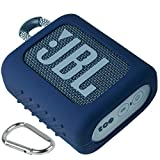 co2CREA Funda de Silicona para JBL GO3 Altavoz inalámbrico portátil(Altavoz no Incluido) (Azul)