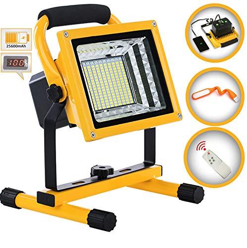 800W 9000LM Foco LED Portátil Exterior Recargable, Proyector LED Lámpara Camping, Luz de Trabajo con puerto de salida USB, 6 Modos de Brillo Ajustable,Trabajo sostenible 6-18 horas, Handlamp (800W)