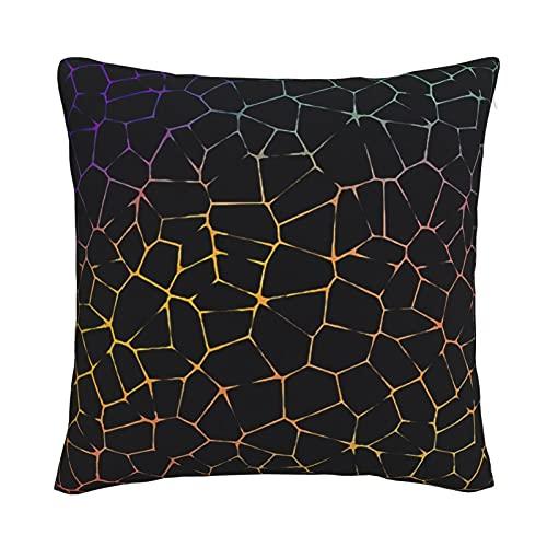 Mxswru Strange Lines - Funda de cojín de terciopelo decorativa cuadrada, funda de almohada de 26 x 26 pulgadas, para cama, sofá y sofá con cremallera invisible