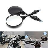 Universeller Motorrad-Rückspiegel, 8 mm/10 mm, verstellbar, faltbar, runder Spiegel