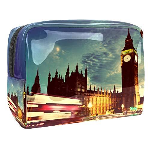 Bolso de Cosméticos Big-Ben-Clock Viaje de Maquillaje Organizador de Almacenamiento Cosmético de la Bolsa de Trabajo Impermeable para Las Mujeres 18.5x7.5x13cm