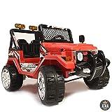 ATAA Coche eléctrico para niños Estilo Jeep 4x4 Wrangler Dos plazas 12v - Rojo