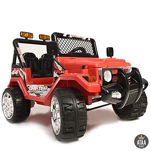 ATAA Coche eléctrico para niños Estilo Jeep 4x4 Wrangler Dos plazas 12v...