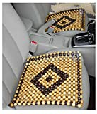 OnWheel Car Bead Seat Wooden Cushion Cover Pad Acupressure Sitting in Beige Color (1 pc)