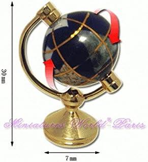 La Boite a Joujoux - www.joujoux.com Accessoire de Maisons de poupées Miniature - Mappemonde en Pierre et métal