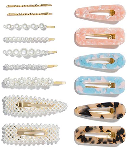 [category] 15 Pcs Pearl Hair Clip for Women Acrylic Hair Clips Gifts for