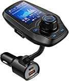 GUANDA TECHNOLOGIES CO., LTD. Bluetooth FM Transmitter In-Car Wireless Radio Adapter Kit W 1.8' Color Screen S Handsfree Call AUX In/Out SD/TF Card USB Charger PD 20W for All Smartphones Audio Players