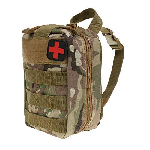 Yundxi Pochette Tactique Molle EMT Pouch Molle Medical Trousses de Premier Secours étanche Sac de Survie d'Urgence Kit de Premier Secours Attache à Ceinture