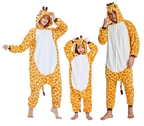 Halloween Unisex Kids Animal Onesie Pajamas- Child Animal Plush Giraffe One Piece Cosplay Costume