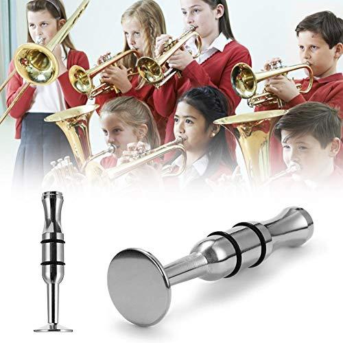 popchilli Dispositivo De Entrenamiento De Embocadura Personal para Trompeta, Trombón, Clarinete, Cuernos, Saxofones - Acero Inoxidable Plateado