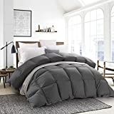 HOMBYS White Goose Down Comforter Duvet Insert,White Goose Down Feather Fiber Blend,1000 Thread