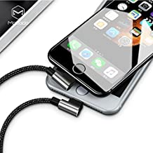 2018 Unique Design Reversible USB Data Cable, L-Style 90 Degree Lightning Cable Nylon Braided 1.2M Length Compatible For ALL IPHONE, iPhone X/8/8Plus/7/7Plus/6 And More (Silver)