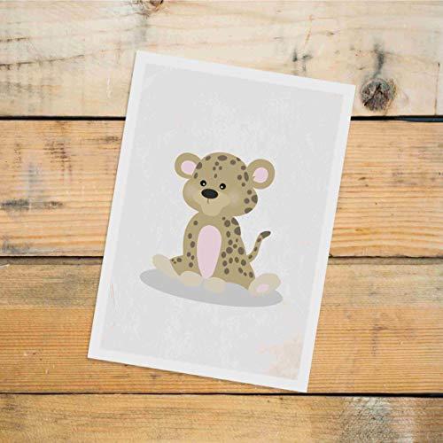 Postkarte Dreamchen Kinderzimmer Deko Leopard Leopold