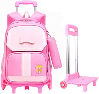 Children's Backpack Multifunctional Dual-Use Stair Climbing Trolley School Bag Detachable Pulley