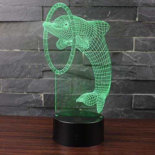 Visspel 3D LED nachtlampje beste cadeau voor kinderen kind slaapkamer decoratieve sfeer nachtlampje lamp