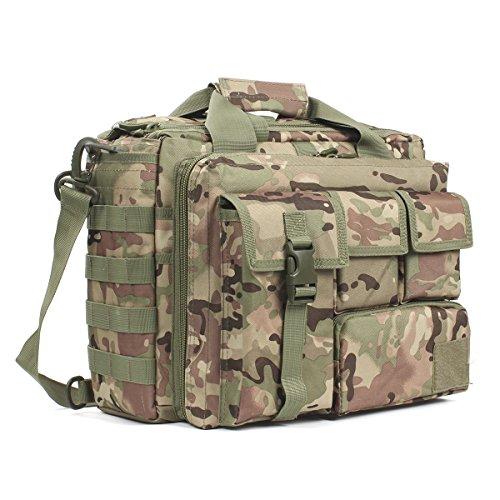 """GES Multifunción Mens al Aire Libre táctico Hombro de Nylon portátil Messenger Bag maletín Bolsos Grandes para 15.6"""" portátil/cámara(CP)"""