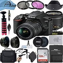 Nikon D3500 DSLR Camera 24.2MP Sensor with NIKKOR 18-55mm f/3.5-5.6G VR Lens, SanDisk 128GB Memory Card, Bag, Tripod, 3 Pack Filters and A-Cell Accessory Bundle (Black)