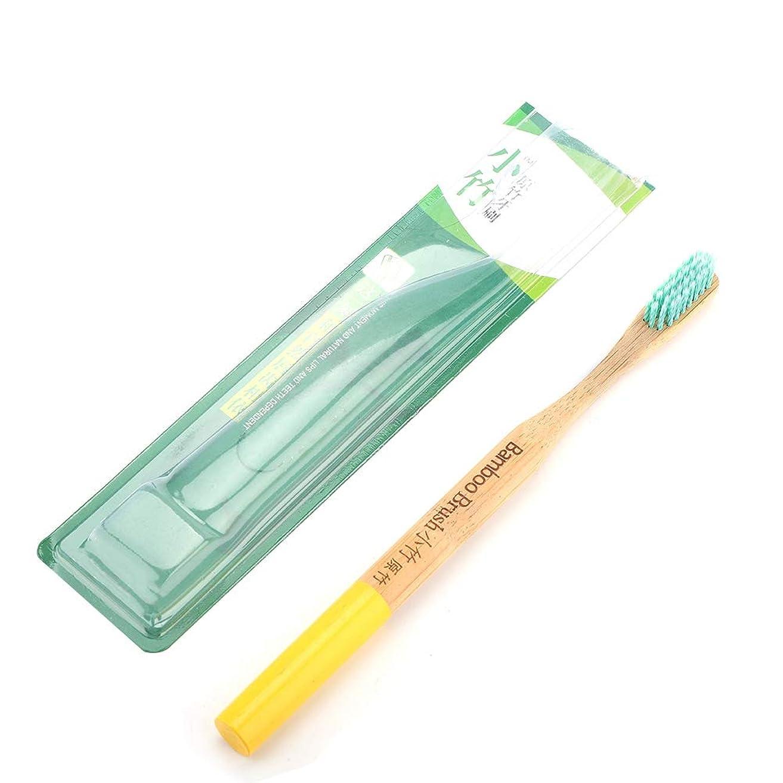 全滅させる真鍮本当に静菌軟毛竹柄歯ブラシ