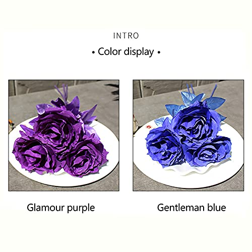 Panonw Artificial Rose 3pcs Silk Rose Flower Artificial Roses with Long Stems for Home Wedding Decor, Centerpieces Birthday Flowers Party Garden Floral Arrangement Red/Black/White Silk Flower Arrangements