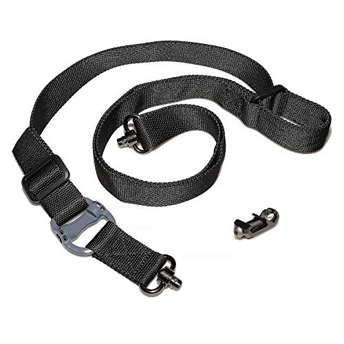 Camu 2 Point Rifle Sling wtih Quick Release QD Long Swivel Mount with Adjustable Strap, QD Swivels for Mlok Rail