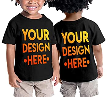 Custom Shirts for Toddlers - Design Your OWN Kids Shirt - Personalized Outfits for Babies Black
