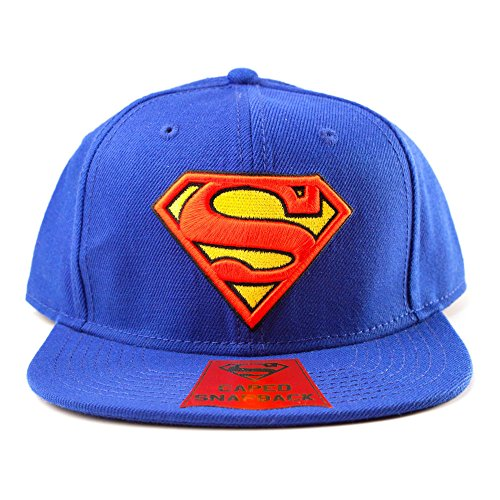 Superman Snap Back Cap Logo -Umhang - blau & rot [import allemand]