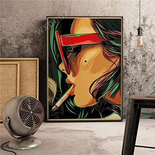 fdgdfgd Retro Hermoso Estilo romántico decoración Cartel niña niños película Pared Arte Sala decoración café Bar Pintura Lienzo Pintura