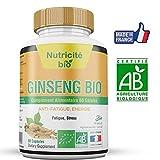 Ginseng Racines Bio 60 gélules de Nutricite-bio– 300 MG – Forme-énergie-vitalité –OFFERT: Notice d'utilisation PDF- Ginseng 100% Bio riche en principes actifs–Fabriqué en France
