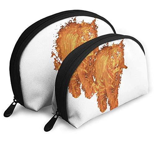 XCNGG Aufbewahrungstasche Tiger On Fire Tragbare Reise Make-up Handtasche Wasserdichte Toilettenartikel Organizer Aufbewahrungstaschen