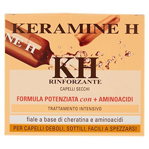 Keramine H Fiale a Base di Cheratina e Aminoacidi per Capelli Secchi, 10 x 10ml