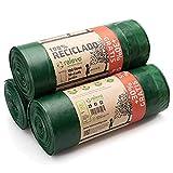 RELEVO 100% Reciclado Bolsas de Basura, Extra Resistentes 100 L, 39 Bolsas