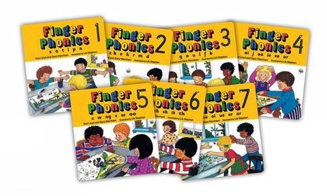 熟練した治世呪いFinger Phonics (7 Books in Series)