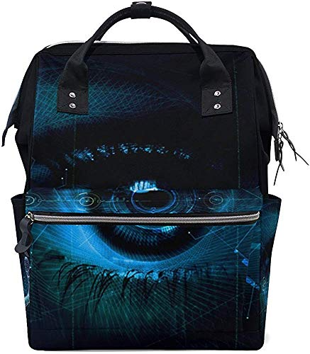Mummy Bag Zwarte ogen Coole technologie Stijlvolle verzorging luiertas luier mummie rugzak rugzak rugzak waterdichte moeder grote capaciteit multi functie boodschappentas baby Pr