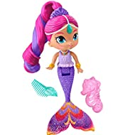 Inspired by an Episode where shimmer and shine magically transform into Mermaids! Color-change hair highlight—just use warm water!  Shimmer features a beautiful pink sculpted tail with a glittering fabric fin!  Articulated waist allows for sitti...