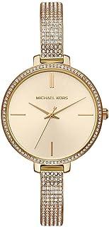 ساعة انالوج بعقارب وسوار معدن للنساء من مايكل كورس - ذهبي