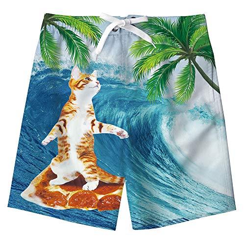 Idgreatim Jungen Mädchen Lustige Drucken Badehose Schnell Trocknend Beachwear Swiming Beach Board Shorts