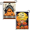 2-Pack Homyplaza Double Sided Outdoor Pumpkins Garden Flag Decorations