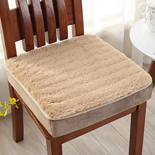 Plush Seat Cushions,Booster Cushion Winter Not-slip Tufted Extra-thick Chair Cushion Pad For Living Room Office Chair