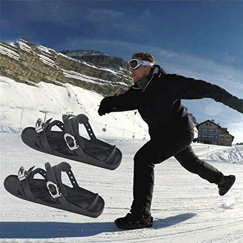 LYRAL Mini Ski Schlittschuhe Schneeschuhe Für Schnee, Skates Für Schnee Short Mini-Ski, Für Downhill Auf Und Abseits Der Pisten, Wald Trails, 1 Paar