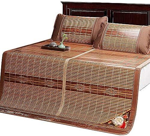 YONG FEI Bambusmatte - Faltbare doppelseitige Sommermatte für den Haushalt - in DREI Grün erh lich Sommer-Schlafmatte (Größe   180X220cm)
