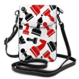 XCNGG bolso del teléfono Soft PU Leather Crossbody Bag Cell Phone Purse Wallet with Shoulder Strap Womens Crossbody Shoulder Tote Handbag Pouch (Chess Pattern)