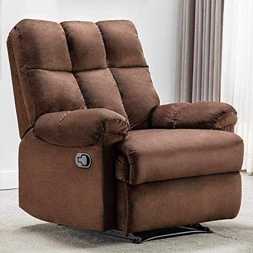 Bonzy Home Overstuffed Fabric Recliner Chair - Heavy Duty Manual...