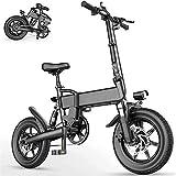 Bicicletas Eléctricas, Las bicicletas plegables bicicleta eléctrica 15.5Mph aleación de aluminio eléctricos for Adultos con 16' Tiro y 250W 36V motor de la E-Bici ciudad conmute impermeable 3-Mode bic