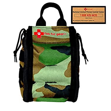 Pet First Aid Kit | Veterinarian Approved | Sturdy for Hanging | Dog First Aid Kit Supplies while Home, Traveling, Camping, Hiking & Car by fab fur gear