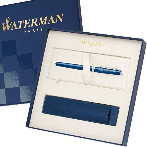 WATERMAN Füllfederhalter Sonderedition mit Etui HEMISPHERE Essential Blau C.C. 1904599 mit persönlicher Laser-Gravur