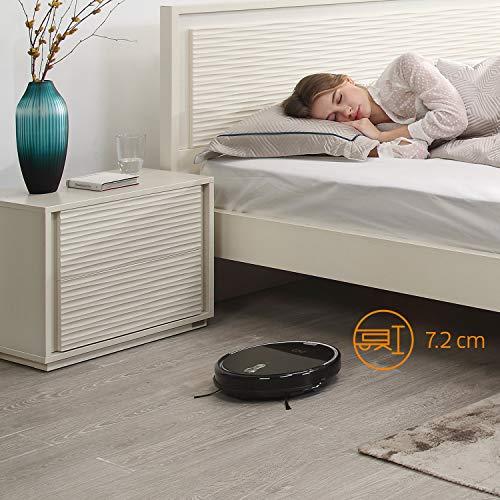 ZACO A8s Saugroboter mit Wischfunktion, App & Alexa Steuerung, 7,2cm flach, automatischer Staubsauger Roboter, 2in1 Wischen oder Staubsaugen, für Hartböden, Fallschutz, mit Ladestation - 3
